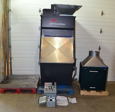 AAF International LVN Rotoclone Wet Dust Collector 2000 & 24X24X12 HEPA Filter