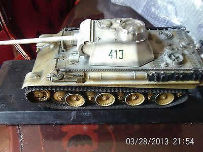 unimax 21st century WW2 german panther tank winter camouflage 1:18 scale