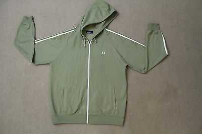 Mens Fred Perry Jacket Size Large Green / White