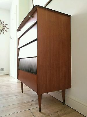 Superb Large Vintage Mid Century Modern Teak Chest of Drawers Modernist