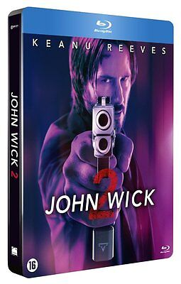 JOHN WICK 2   (Steelbook)-  Blu Ray - Sealed Region B for UK