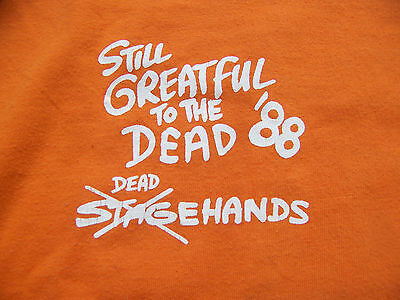 1988 Grateful Dead STAGEHAND BACK STAGE PASS ALPINE VALLEY Grateful Dead T-Shirt