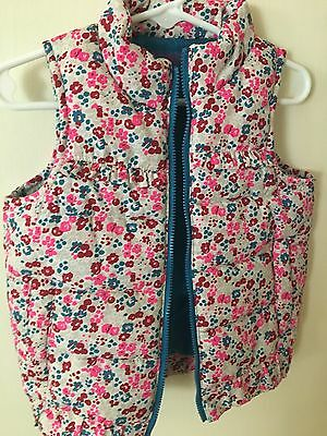Genuine Kids Oshkosh Puffer Vest, Floral, 2T