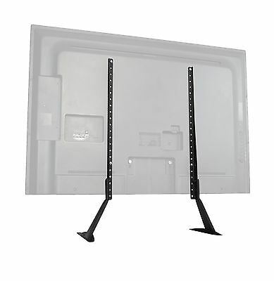 "VIVO Universal LCD Flat Screen TV Table Top Stand / Base fits 27"" to 55"" ... New"