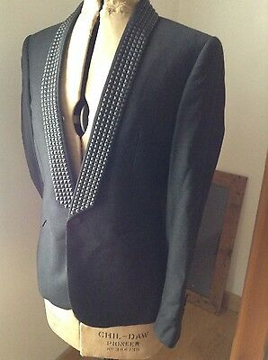 "ASOS new black jacket for prom / wedding / dinner 38"" + River Island shirt S"