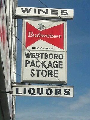 vintage Wine & Liquor lighted  sign