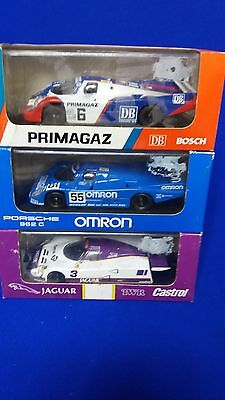 2 Porsche 1 Jaguar Onyx Model Le Mans 1990 Race Cars