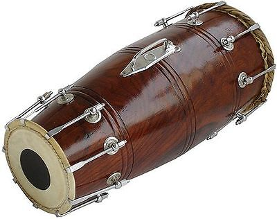 Indian Professional Dholaki  Indian-Dholak-Drum-With-Bolt-Sheesham-Wood-Dhol