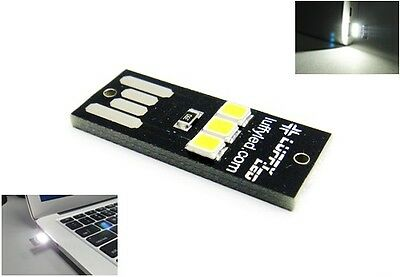 LUFFY Mini Portable USB 3 SMD LED Light Cool White Reading Notebook Lamp Trip