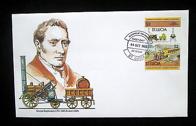 Leaders of the World FDC  St.Lucia 1983 excellent condition