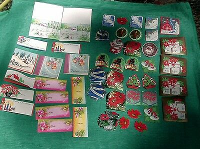 Lot of Vintage Christmas Seals / Stickers / Tags /  Card