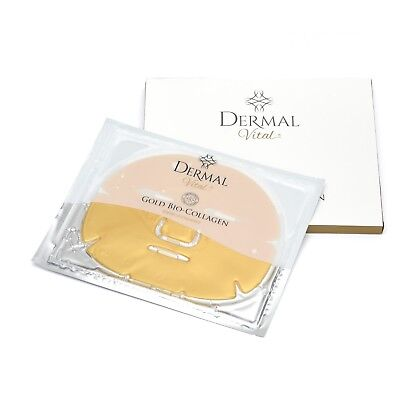 Gold Bio Collagen Maske Anti Aging, Collagen Hyaluron Antifalten - Dermal Vital
