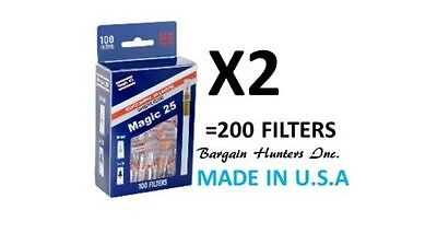 Magic 25 200 Filters Value Pack Cigarette Magic25 Filter Made In Usa