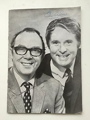 Original Theatre Programme - Signed By Eric Morecambe And Ernie Wise 1960s