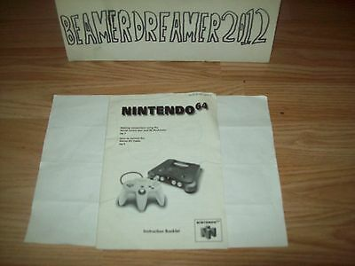 Nintendo N64,console Instruction Manual Only,please Read Add.