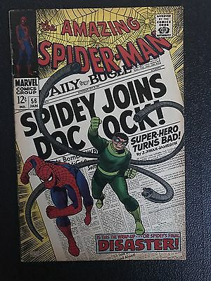 MARVEL Comics VG+ SPIDERMAN SILVER age #56 1967 DR OCTOPUS APP STORY AMAZING
