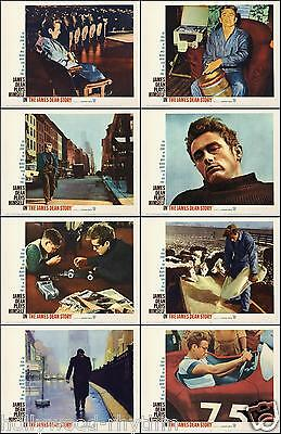 THE JAMES DEAN STORY Complete Set Of 8 Individual 11x14 LC Prints 1957