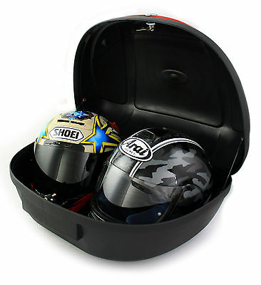 Motorcycle Extra Large Xl 52L Universal Fitting Luggage Top Box Fits 2 Helmets
