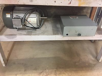 Dayton 15 HP  Motor 3 phase converter 230/460 Voltage Energy Efficient used