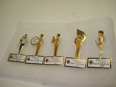 Vintage LIONS CLUB PINS LOT FROM MISSISSIPPI 1983 BAND