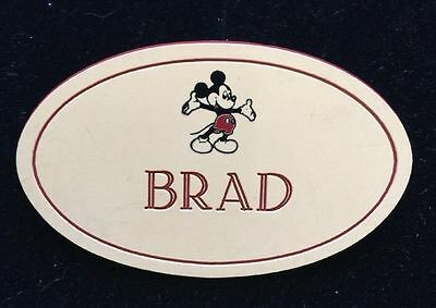 Disney Name Tag or Badge - Brad - Free Shipping