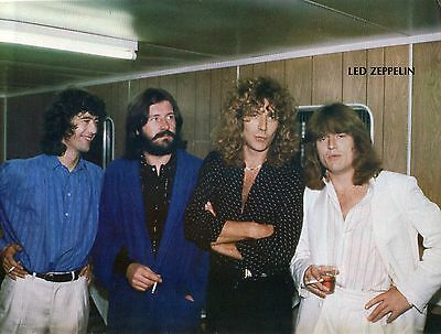 Led Zeppelin Pinup Clipping 80's Backstage Jimmy Page Robert Plant
