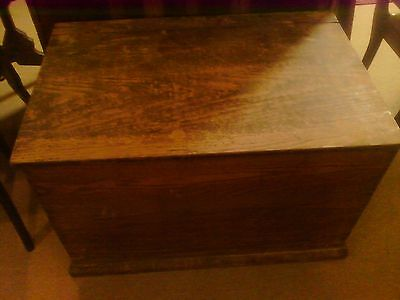 ANTIQUE BLANKET CHEST  Good size for coffee table