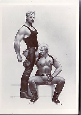 Tom of Finland 1987 postcard  image card