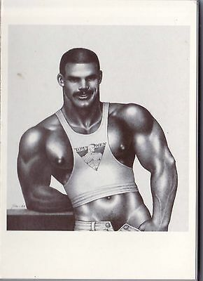 Tom of Finland postcard 1989 post card