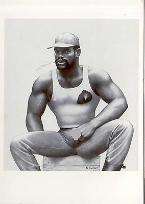 Tom of Finland post card  1986 image postcard
