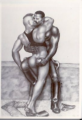 Tom of Finland postcard 1987  image post card