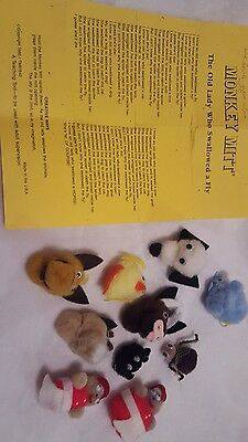 1980 Monkey Mitt The Old Lady Who Swallowed a Fly Puppet Set replacement animals