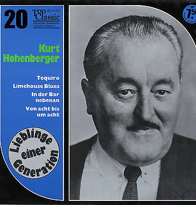LP  Kurt Hohenberger - Tequiro, Limehouse Blues, In der Bar nebenan, u. a. m.
