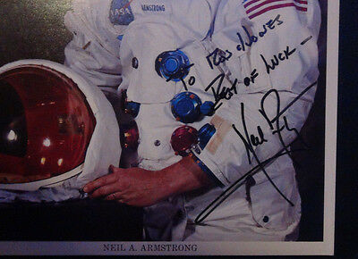 Exceptional Original Nasa Apollo 11 Neil Armstrong Signed Photo-100% Authentic