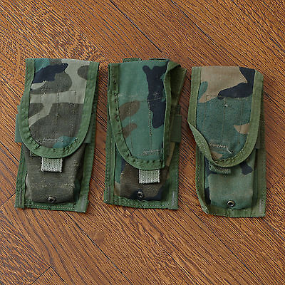 USGI Woodland Camouflage M4 Pouches MOLLE II Allied Industries