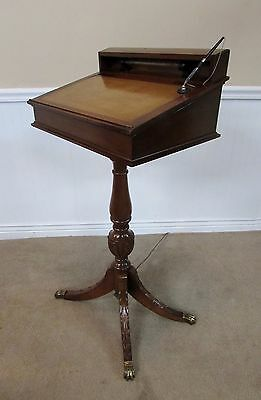 Vintage Mahogany Lighted Podium, Lecturn, Pulpit, Music Stand Funeral Registry