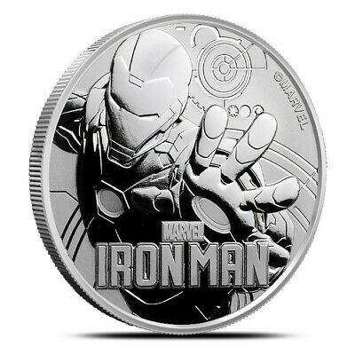 2018 Tuvalu $1 Iron Man 1 oz Silver Coin - Perth Mint with capsule IN-STOCK!!