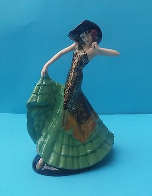 Pretty Limited Edition Coalport Art Deco 'rio Rita'  Figurine