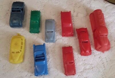 9 VINTAGE 50's & 60'S CEREAL PREMIUMS Race & Classic PLASTIC CARS Austin Healey