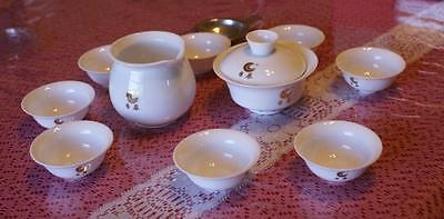 Chinese ceramic tea set with 8 cups