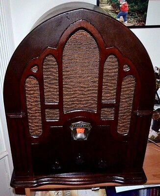 Early 1930's store display DECO Cathedral PRODUCT OF EDISON RADIO STORES INC