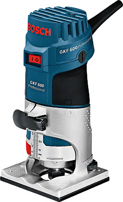 Bosch GKF600 Palm Router Kit And Extra Base 240v