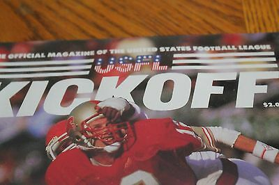 USFL Football Magazine Baltimore Stars signed by Bruce Laird Combine Shipping
