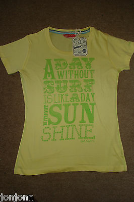 GUL SURF, LADIES T SHIRTS, YELLOW Size 12, BRAND NEW * * * RRP £20