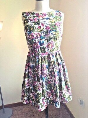 Bar III Women's Floral Printed Sleeveless summer party Size Medium cotton