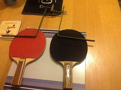 2X Table Tennis Bats With Frames For Net