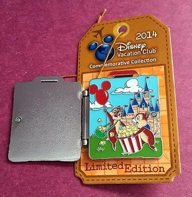 Disney Vacation Club 2014 Chip and Dale Suitcase Luggage LE 2500 Pin