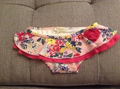 Baby Girls Clothes Swim Wear 3-6 Months Monsoon Floral Knickers