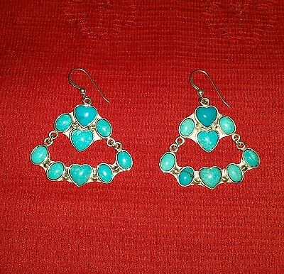 Jay King Dtr 925 Turquoise Heart Inlay Earrings Mind Finds