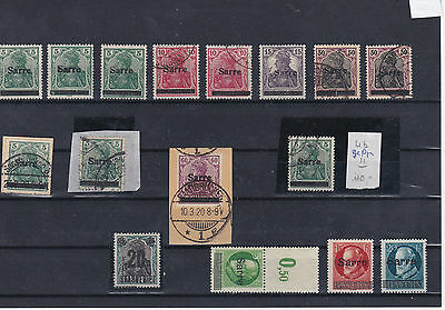 Germany Saar 1920 Mounted Mint+Used Over Print Stamps Ref: R6901
